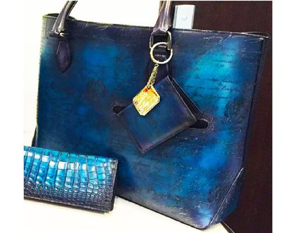 Blue Patinue Item Berlutti TOUJOURS Bag