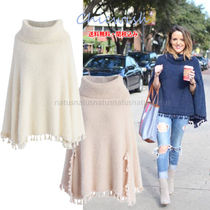 Chicwish Casual Style Tassel Plain Medium Ponchos & Capes