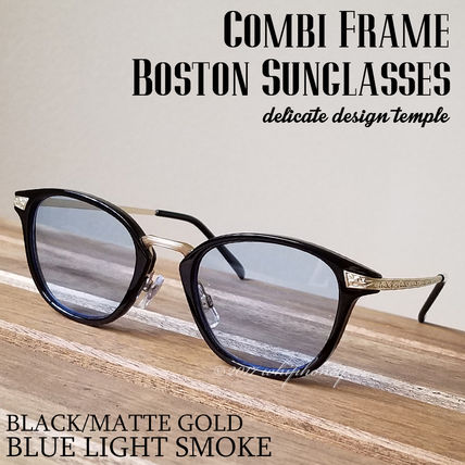 Delicate Boston Wellington duo fresh glasses black blue