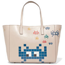 Anya Hindmarch Casual Style Unisex Calfskin A4 Totes