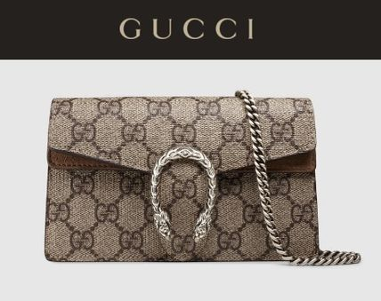 GUCCI Dionysus Monoglam Casual Style Chain Leather Luxury Brand Bag
