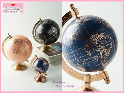 18 AW the most reasonable Anthro Decorative Globe Navy:S
