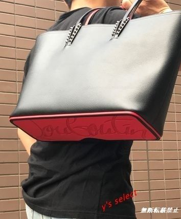 Christian Louboutin Unisex Bag in Bag A4 Plain Leather Totes