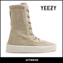 Yeezy Moccasin Suede Street Style Plain Loafers & Slip-ons