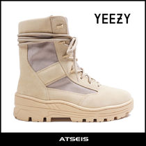 Yeezy Mountain Boots Suede Street Style Plain Outdoor Boots