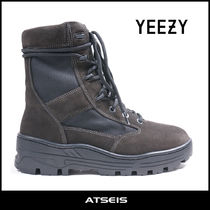 Yeezy Camouflage Mountain Boots Suede Street Style Plain