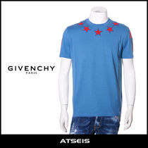 GIVENCHY Crew Neck Star Street Style Cotton Short Sleeves