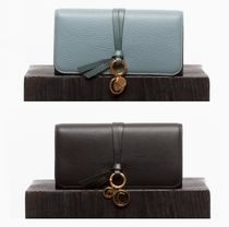 Chloe Tassel Plain Leather Long Wallets