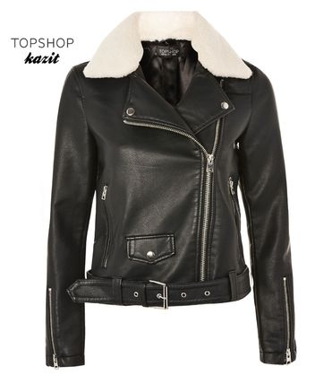 Bore collar leather riders jacket B