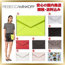 Rebecca Minkoff Casual Style Plain Leather Clutches