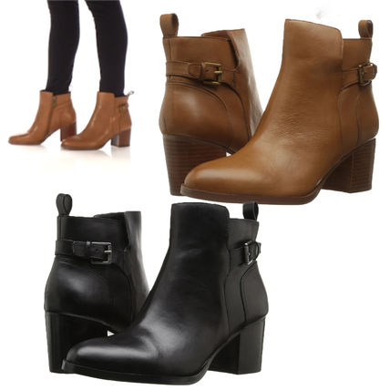 Cheap SALE LRL GENNA buckles leather short boots
