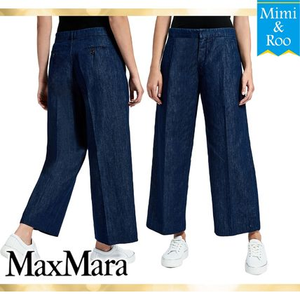 Max Mara denim wide pants