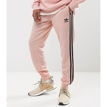 adidas SUPERSTAR Stripes Street Style Plain Cotton Joggers & Sweatpants