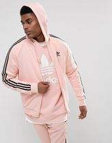 adidas SUPERSTAR Short Stripes Street Style Plain Track Jackets