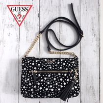 Guess Star Casual Style Faux Fur Tassel Shoulder Bags