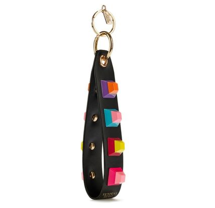 With studded strap keychain