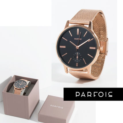 BLACK dial face pink gold watches