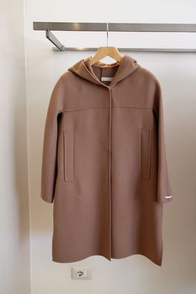 UNGHIA S MAX MARA wool coat with hood simple