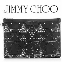 Jimmy Choo Star Studded Bag in Bag A4 Leather Clutches