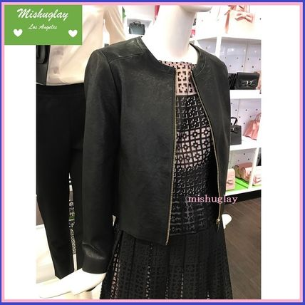 Kate spade refined style leather jacket