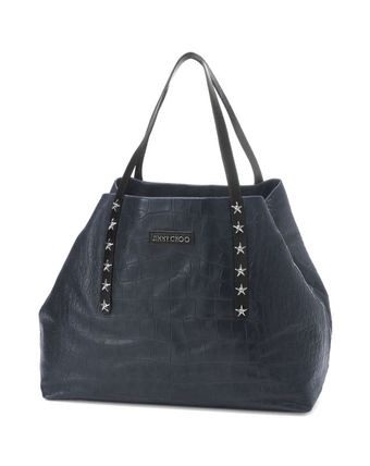 Jimmy Choo Studded A4 Leather Totes