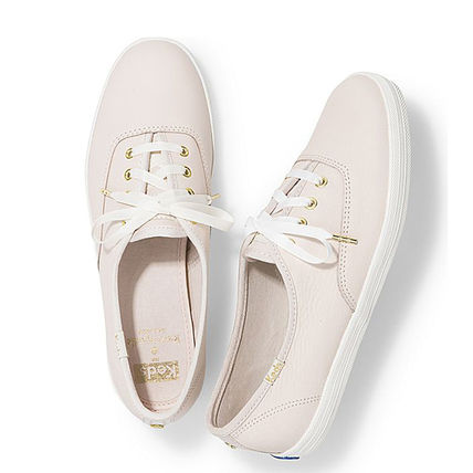 Casual Style Collaboration Plain Leather Low-Top Sneakers