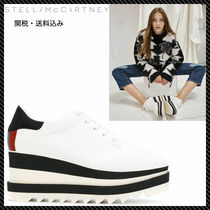 Stella McCartney ELYSE Platform Round Toe Lace-up Casual Style Faux Fur Plain