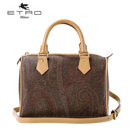 Paisley Faux Fur 2WAY Elegant Style Shoulder Bags
