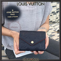 Louis Vuitton MONOGRAM EMPREINTE Monoglam Unisex Calfskin Plain Folding Wallets