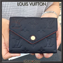 Louis Vuitton MONOGRAM EMPREINTE Monogram Unisex Calfskin Plain Folding Wallet