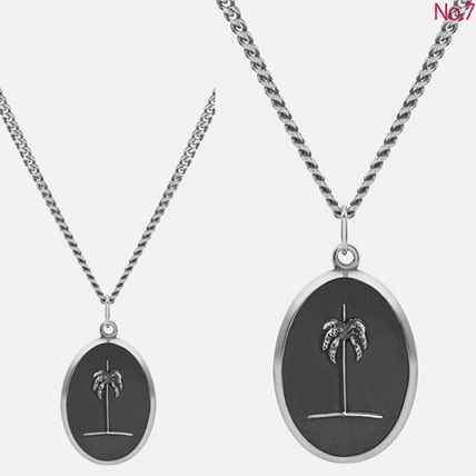 Tropical Patterns Unisex Silver Necklaces & Chokers