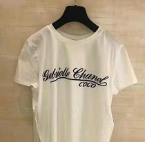 CHANEL ICON Unisex Street Style Cotton Short Sleeves T-Shirts