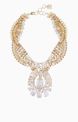 Party Style Brass With Jewels Necklaces & Pendants