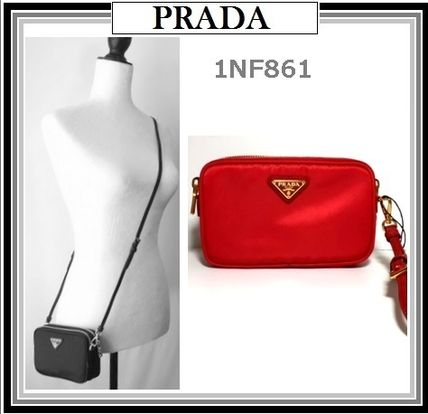 Nylon shoulder Pouch 1NF 861 ROSSO