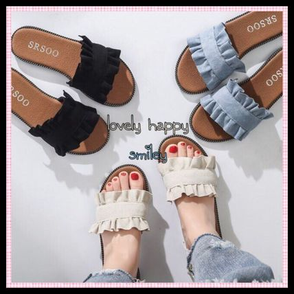 Ruffle Sandals comfortable in
