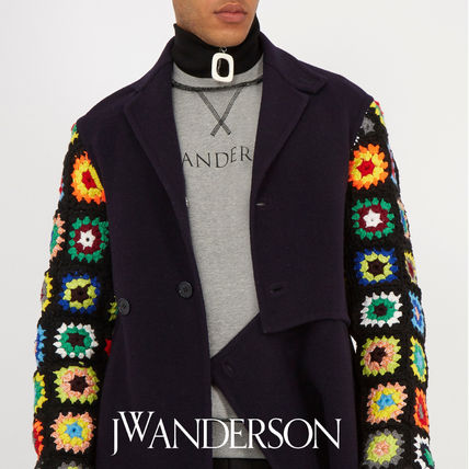 J.W.ANDERSON 17AW ZIP up neck band black