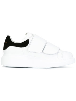 Bi-color Leather Low-Top Sneakers