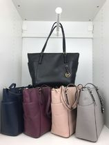 Michael Kors Plain Leather Totes
