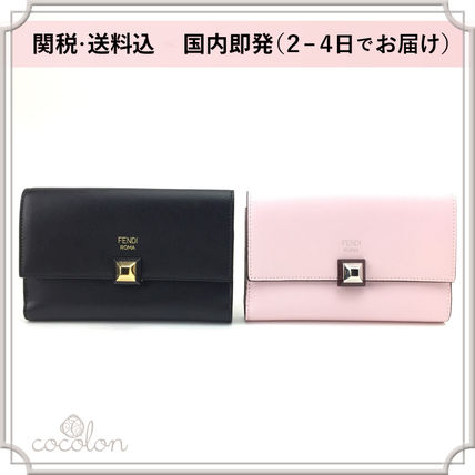 Studded Continental Slim long wallet