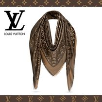 Louis Vuitton MONOGRAM Monogram Silk Fringes Elegant Style