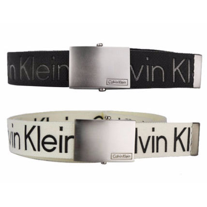 Men's logo print padded belt