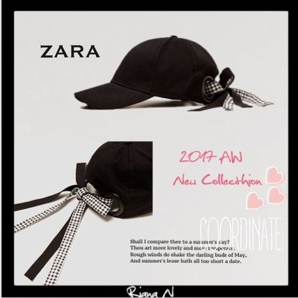 2017 winter VIC Ribon cute black cap