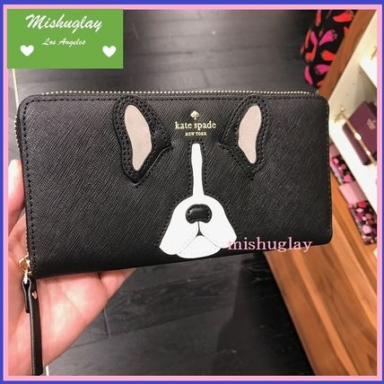 Kate spade French Bulldog long wallet lacey