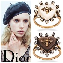 Christian Dior With Jewels Elegant Style Rings