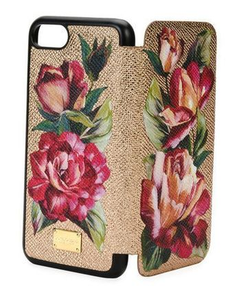 Dolce Gabbana Floral Leather Phone Cover notebook type