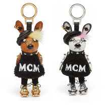 MCM Street Style Leather Keychains & Bag Charms