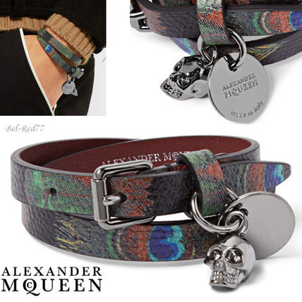 Fetzer print leather bracelet