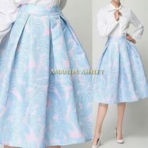 Flower Patterns Tropical Patterns Nylon Pleated Skirts