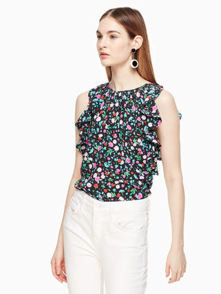 Kate spade dress greenhouse ruffle silk top