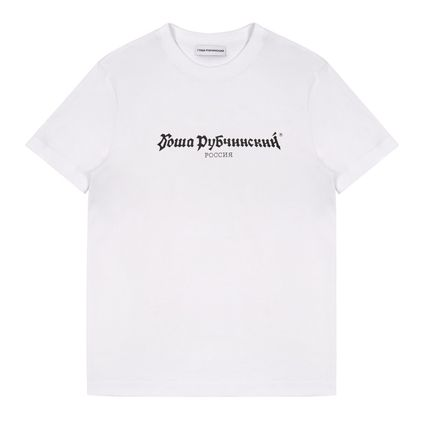 Gosha Rubchinskiy Pullovers Street Style U-Neck Plain Cotton Short Sleeves